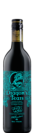 Dragons' Tears Blueberry Fruit Wine by Minhas Winery